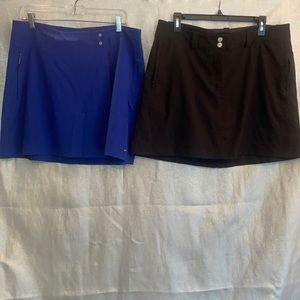 2 Nike Dri-fit Golf skirt & skort size 12